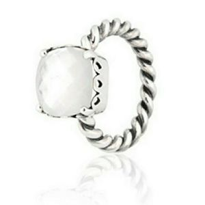 Pandora mother-of-pearl sincerity ring